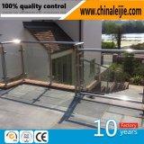304ステンレス鋼のガラス柵の柱デザイン