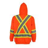Het hoge Oranje Jasje van de Winter van Workwear van Mensen Vis Weerspiegelende