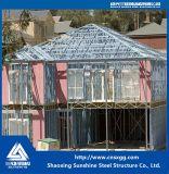 Casa prefabricada ligera moderna barata y chalet de la estructura de acero