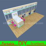 Будочка торговой выставки выставки изготовленный на заказ алюминиевого штрангя-прессовани портативная модульная DIY