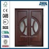 Il vetro intagliato riveste il portello di pannelli di legno dell'impiallacciatura del Governo della mano dell'India (JHK-014)