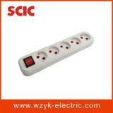 (YK418) Snelle Aansluting 5 van de Kabel de ElektroContactdoos van de Manier met Schakelaar