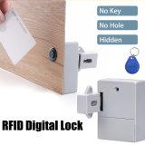 Tamanho pequeno em RFID Smart Card Hidden travamento do armário sem danificar o gabinete de placa RF Bloqueio Cacifo Digital 5#