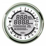Universal 85mm numérique compteur de vitesse GPS Tachymètre jauge multifonction 6 en 1 mètre