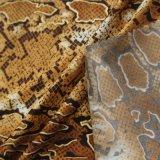 Nylon bronzé brillante Spandex élasthanne tissu stretch serpent en bonneterie Pour imprimer