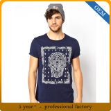 La coutume de haute qualité impression Hommes 100 Coton T-shirt col rond