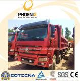 사용된 HOWO 덤프 트럭 (아프리카를 위한 40tons 수용량을%s 가진 8X4) 371HP
