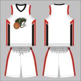 黒いカラーはクラブのためのバスケットボールのユニフォームをカスタム設計する