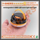 Rechargeable 5 SMD LED Luz de trabalho Sos Light 180 Lm