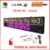 LED-Bildschirmanzeige-Panel-Radioapparat und Innenzoll 40X9 DER USB-programmierbarer Rollwerte-P6 farbenreiches Zeichen RGB-LED
