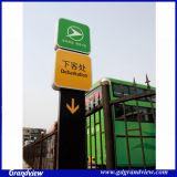 La station de métro pylône directionnelle signer