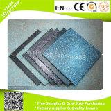 Azulejos de suelo suaves de la estera colorida de goma de la yoga