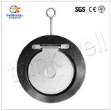 precio de fábrica de Qingdao CF8m tipo delgado Válvula de retención de un solo disco