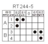 5 위치를 가진 고열 로터리 스위치 (RT244-5)
