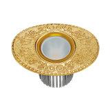 Riflettore d'ottone della villa del LED con rivestimento antico dell'oro 24k
