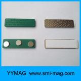 Étiquette de nom de l'aimant reproductible en plastique/Badge magnétique avec adhésif