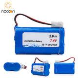 18650 2200mAh 11.1Vの再充電可能なリチウム電池のパック