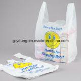 [هدب] بيضاء بلاستيكيّة [ت-شيرت] حقيبة لأنّ تسوق