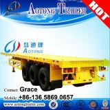 Wellen-flaches Bett-Schlussteil des China-Hersteller-2-4, des Flachbett-20foot Schlussteil halb, Flachbett-LKW-Schlussteil des Behälter-40feet für Verkauf