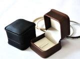 Contenitore di imballaggio dei monili di qualità fatto di cuoio per i monili dei gioielli dei gemelli degli anelli (Ys309)