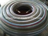 Tuyau renforcé en acier inoxydable en PVC