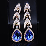 Pendientes cristalinos del diamante de las novias de las mujeres de los pendientes de la lámpara de la boda