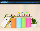 Novelty Travel Glass Water Bottle com Eo-Freindly Cup Sleeve