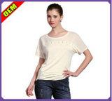 Fashion Sexy T-shirt impresso para as mulheres (W194)