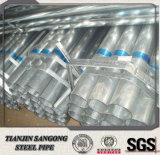 ASTM A500 gr. une pipe pré galvanisée d'acier de Mme le carbone
