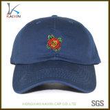 Berretto da baseball ricamato del blu marino dei cappelli e delle protezioni del papà