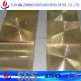 Листовая медь C27000 H65 Cuzn37 Cw508L в латунном штоке