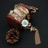 方法女性のための優雅な多層チェーンネックレスの鎖のふさそして星のペンダント