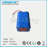 14.8V 2200mAh 18650 Batterie-Satz