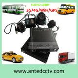 Sistema de vigilância móvel do CCTV do veículo/barramento/carro/caminhão/táxi com seguimento de 3G/4G GPS