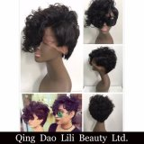 Parrucca piena 100% del merletto dei capelli umani della parrucca del merletto dei capelli brasiliani del Virgin di Remy Hiarshort di bellezza di Lili