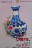 Il Fashion Chinoiserie Embroidery Patch con The Blue e White Porcelain Pattern