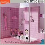 impression de Silkscreen de peinture de Digitals d'image de dessin animé de 3-19mm/configuration acide de sûreté gravure à l'eau forte gâchée/verre trempé pour la douche/salle de bains/partition avec SGCC/Ce&CCC&ISO