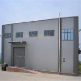 産業研修会のための鉄骨構造の建物か倉庫またはオフィス