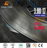 Chambre à air de caoutchouc butylique de moto initiale de tube pour la motocyclette 3.00-17