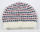 Moda Hand Made Crochet Checked Style Knitted Knitting Hat