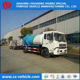 糞便Dongfengの下水道のクリーニングのトラック8m3の真空か下水の吸引のトラック