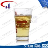260ml Hot Sell Decaled Glass Tea Mug (CHM8073)