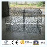 金網のGabion六角形の電流を通されたボックスによって電流を通されるGabionのバスケット
