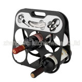 6 Bottle Wine Rack Black Color (608355-B)