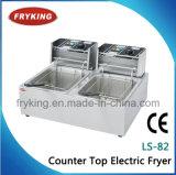 Fryer двойных баков электрический открытый для трактира