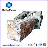 Prensa de empacotamento horizontal do cartão que recicl a máquina com PLC de Siemens