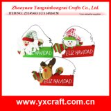 Décoration de Noël (ZY14Y171-1-2-3) Wood Hanging Christmas Welcome Sign Board