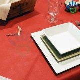 tissu non-tissé de polypropylène rouge foncé de 50GSM Bourgogne pour le tissu de Tableau et la nappe