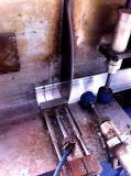 Le découpage faisant le coin de connecteur a vu pour le tube en aluminium
