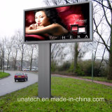 LEDによって旗の屈曲PVCファブリックメガ屋外の道のMetailのバックライトを当てられるライトボックスを広告しているポーランド人